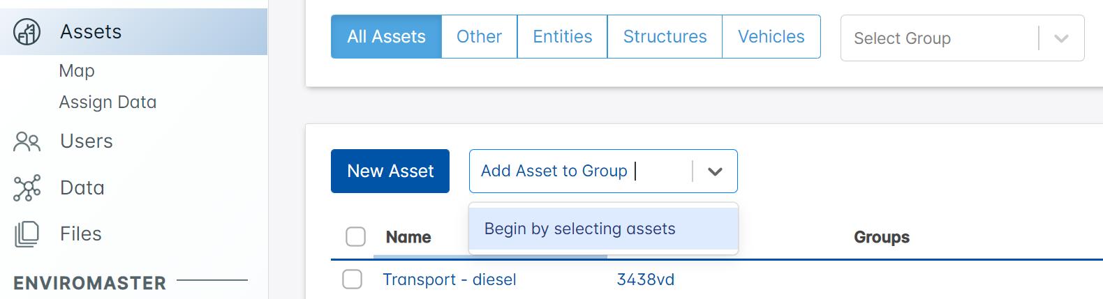 Asset Grouping