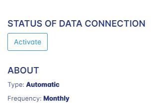 Data sources activation