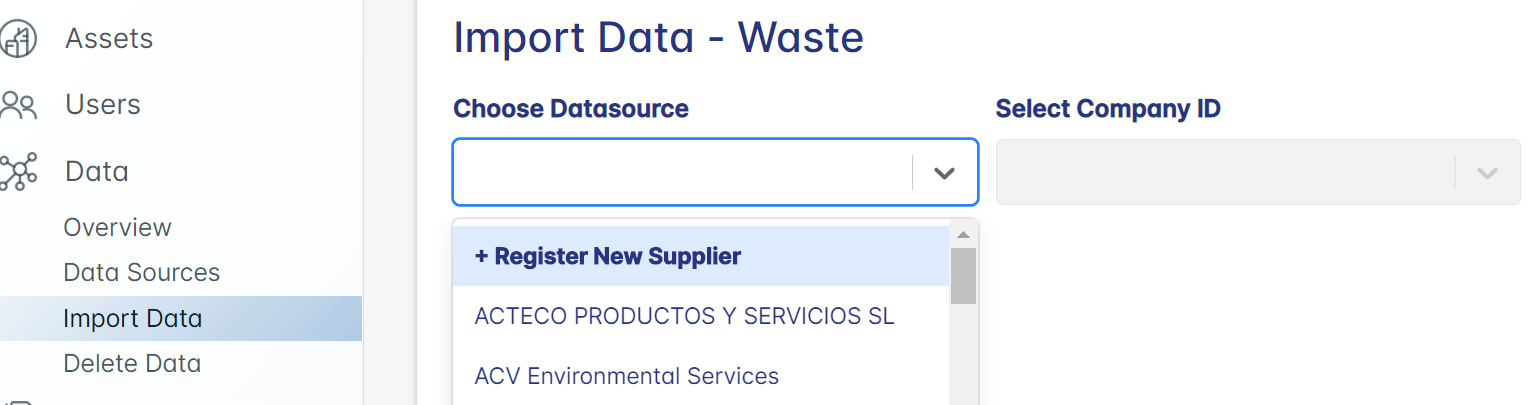 Data Importing New Supplier